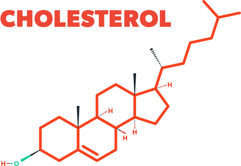 Een afbeelding van het cholesterol molecuul